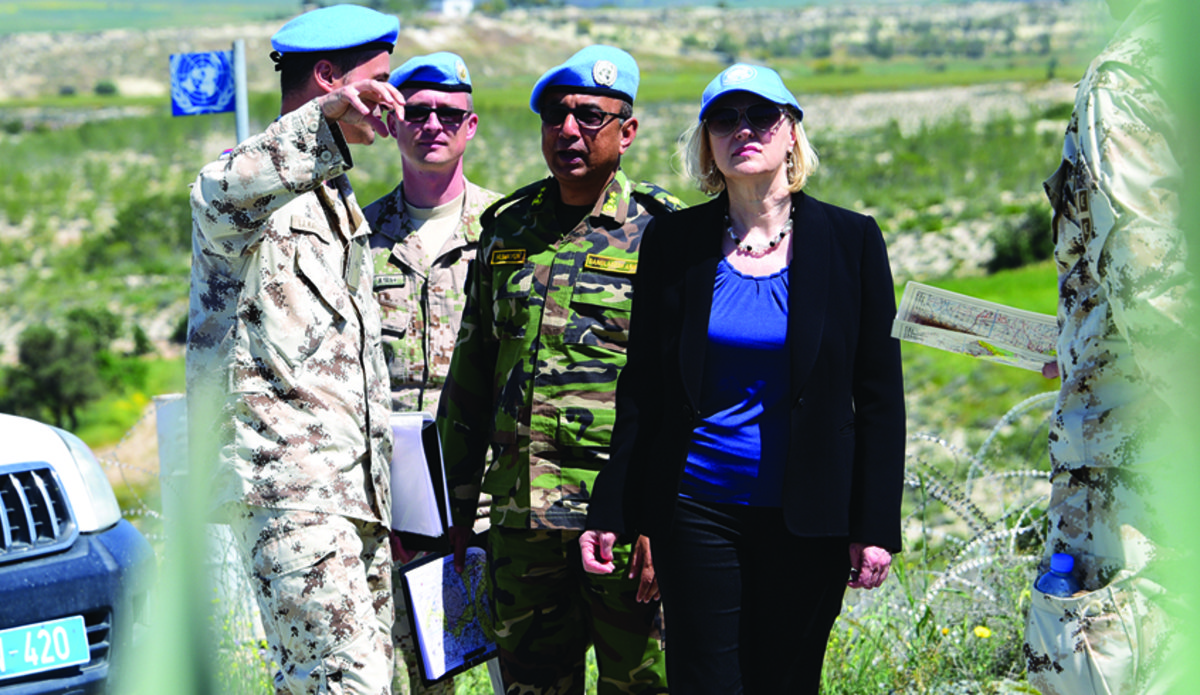 Head of Mission, Force Commander visit Athienou